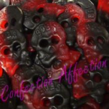 Swedish Raspberry & Liquorice Skulls 100g